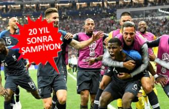 Dünya Kupası'nı Fransa kazandı