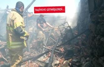 İzmir'de bir çiftin evi yandı!