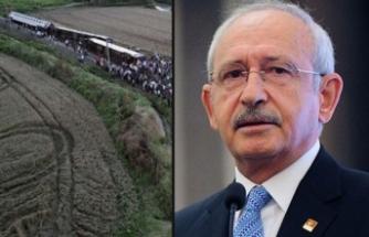 Kılıçdaroğlu'ndan 'Tren Kazası' hakkında şok iddialar