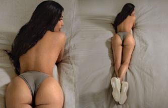 Kardashian'dan üstsüz paylaşım