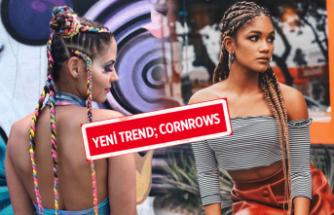 Afrika örgüsü için yeni trend: Cornrows