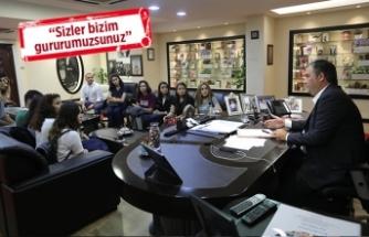 Gençlerden Başkan Piriştina'ya teşekkür