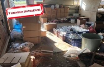 İzmir'de 'baraka' baskını! 157 şişe...