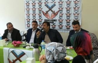 AK Partili Bekle, Kuran kursu öğrencileriyle buluştu