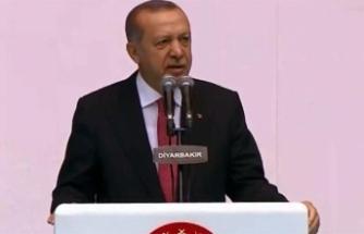 Erdoğan'dan Diyarbakır'da önemli açıklamalar