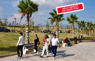 Kemalpaşa'nın Millet Bahçesi'ne yoğun ilgi