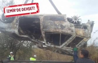 Arabanın içinde yanmış ceset bulundu!