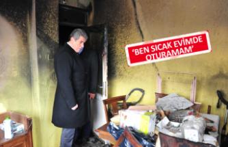 Balçova Belediyesi evi yanan vatandaşa derman oldu
