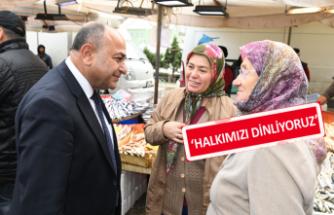 Başkan Hasan Arslan'dan pazar yeri turları