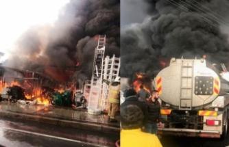Ünlü tatil merkezi Çeşme'de korkutan yangın