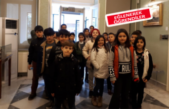 Bayraklılı çocuklar müzeleri geziyor