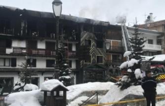 Kayak merkezinde yangın: 2 ölü, 18 yaralı