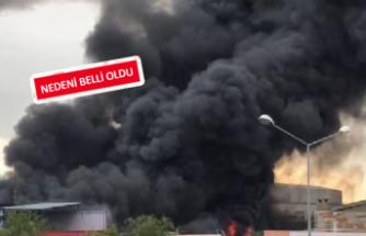 İzmir'de çerez fabrikasında yangın
