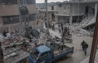 AA: Rus uçakları İdlib'i vurdu