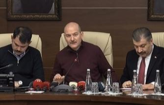 Bakan Soylu, Kurum ve Koca Elazığ'daki depremle ilgili son dakika bilgilerini paylaştı
