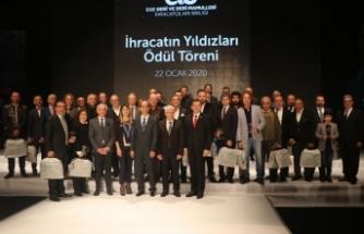 Ege'nin deri ihracatçıları ödüllendirildi