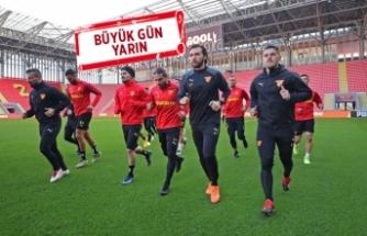 Göztepe, Beşiktaş maçı için son çalışmasını yaptı