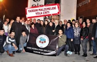 Kemalpaşa Elazığ'a destek için tek yürek oldu