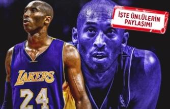 Kobe Bryant'ın ani ölümü ünlüler dünyasını yasa boğdu