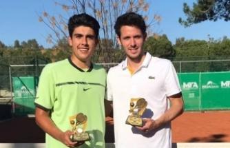 Milli tenisçi Umut Akkoyun, Antalya'da çiftler şampiyonu oldu