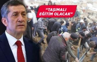 Bakan Ziya Selçuk, hasar gören okullarla ilgili açıklama yaptı