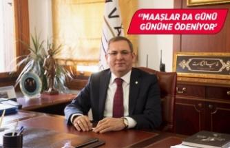 Başkan Ergin, emekçinin hakkını ödüyor