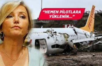 Berna Laçin'den uçak kazasıyla ilgili yorum!