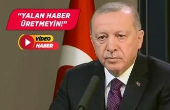 Cumhurbaşkanı Erdoğan'dan Fox muhabirine sert sözler!