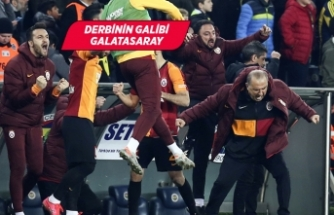 Derbinin galibi Galatasaray oldu