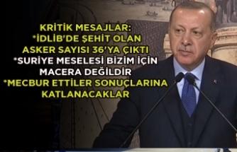Erdoğan, İdlib saldırısı sonrası ilk kez konuştu