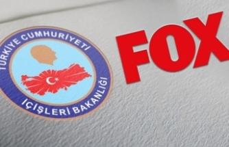 İçişleri Bakanlığı'ndan FOX'a çok sert tepki! 'Türkçe anlamıyorsanız, İngilizce yazalım