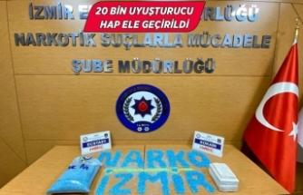 İzmir'de 2 kilo 164 gram kokain ile uyuşturucu hap ele geçirildi