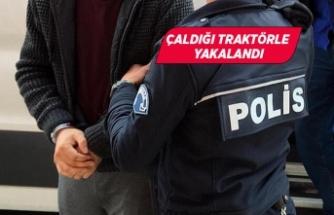İzmir'de çiftçinin traktörünü çalan şüpheli tutuklandı