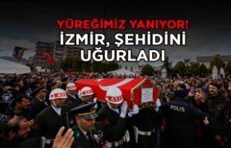 İzmir şehidini uğurladı: Yürekler dağlandı