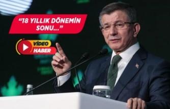 """Ahmet Davutoğlu'ndan """"Tekalif-i Milliye"""" eleştirisi!"""