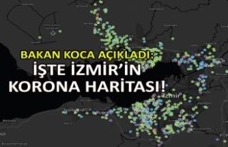 Bakan Koca açıkladı: İşte İzmir'in korona haritası!