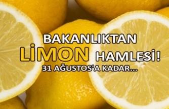 Bakanlıktan limon hamlesi!