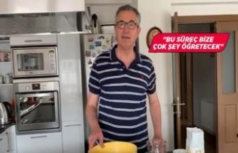 Başkan Arda, evde ekmek yaptı