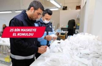 Bayraklı'da izinsiz maske üretimine geçit yok
