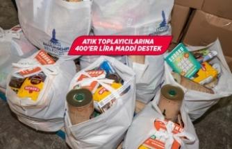 Geri dönüşümlü atık toplayıcılarına gıda paketi
