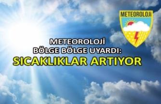 Meteoroloji bölge bölge uyardı: Sıcaklıklar artıyor