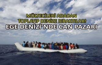 Mültecileri adadan toplayıp denize bıraktılar!