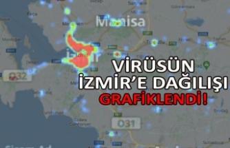 Virüsün İzmir'e dağılışı grafiklendi!