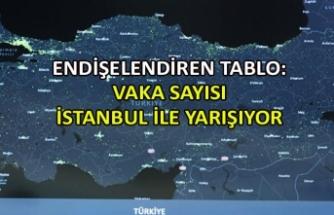 Endişelendiren tablo: Vaka sayısı İstanbul ile yarışıyor