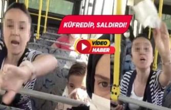 Halk otobüsünde akılalmaz kavga! Küfredip, saldırdı
