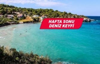 İzmir'de kısıtlamanın olmadığı hafta sonunda deniz keyfi