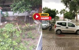 İzmir'de kuvvetli yağış ve dolu!