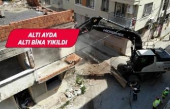 Konak'ta tehlike saçan binalara geçit yok