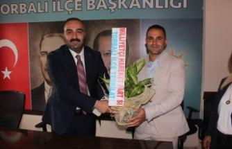 MHP Torbalı İlçe Başkanı Oral'dan AK Parti'ye ziyaret