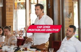 CHP İl Başkanı Yücel Menderesli muhtarlarla buluştu